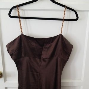 Brown satin formal gown size 16